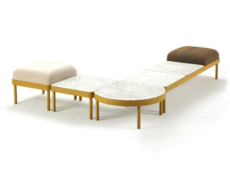 Low modular marble coffee table MOSAICO | Coffee table by Sancal