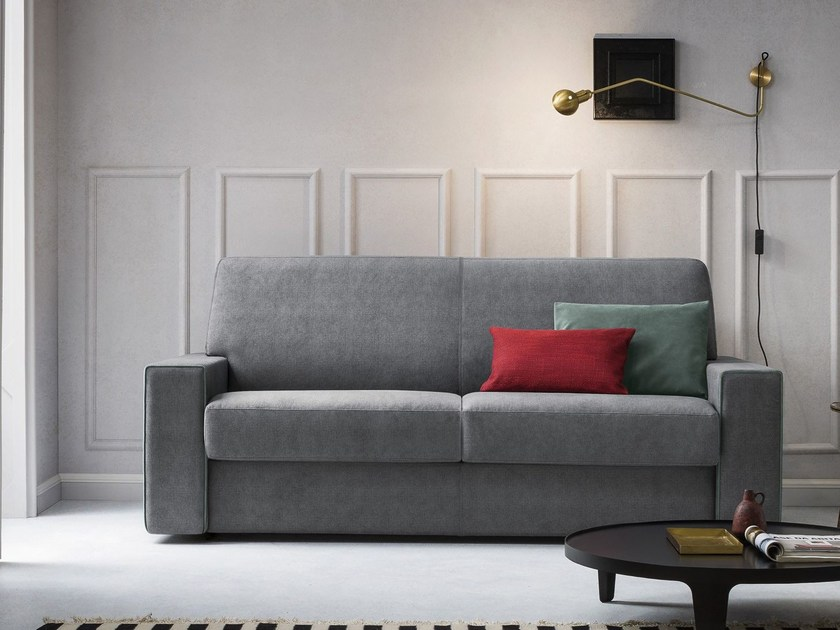 Fabric sofa bed with removable cover MOSLEY by Felis