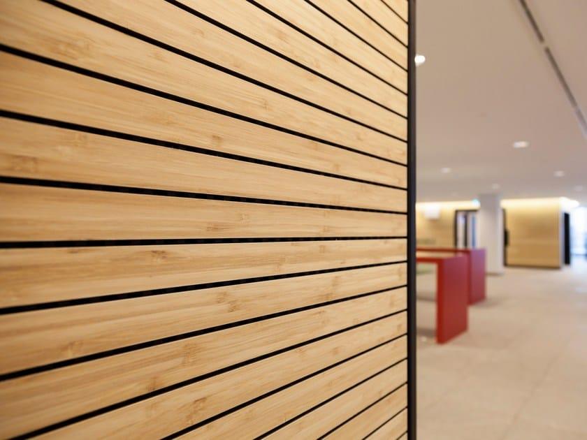 Indoor bamboo wall tiles BAMBOO VENEER by Moso International
