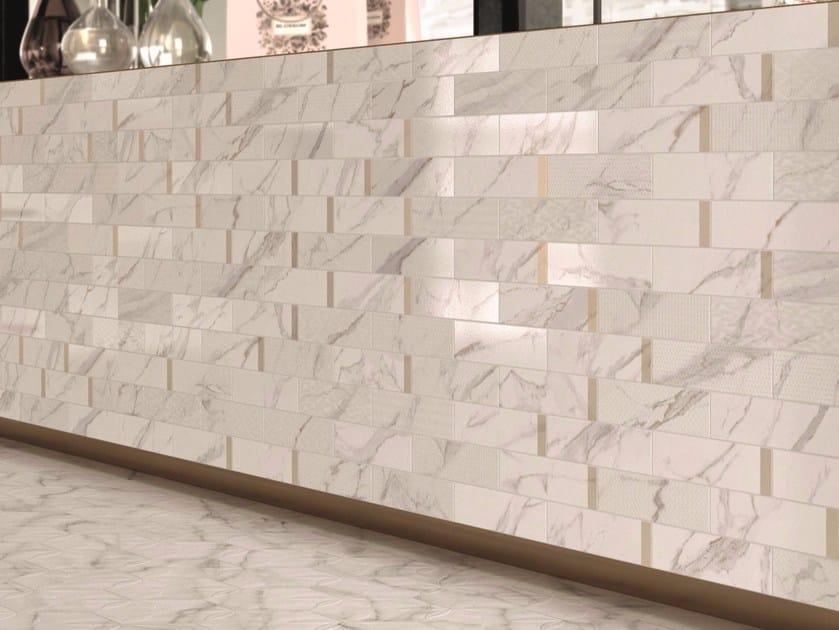 Porcelain Stoneware Wallfloor Tiles With Marble Effect Motif