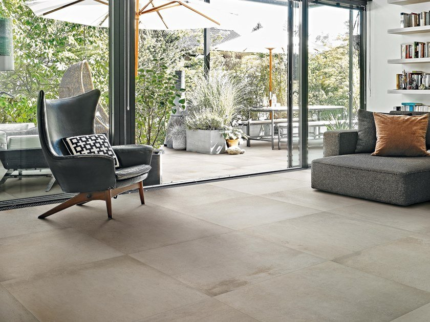 Porcelain Stoneware Wallfloor Tiles With Concrete Effect Motion By