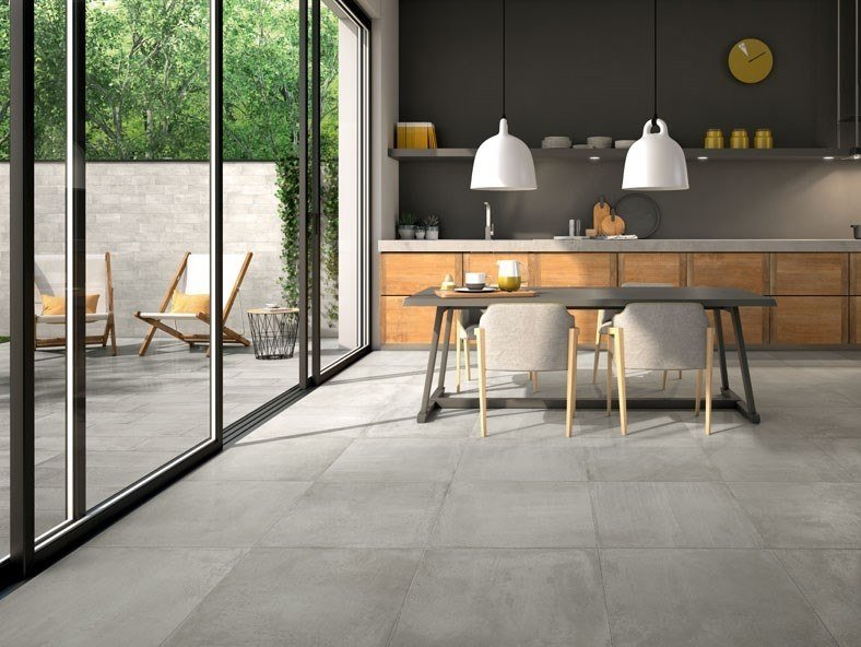 Porcelain stoneware wall/floor tiles with concrete effect MOTION by Panaria Ceramica