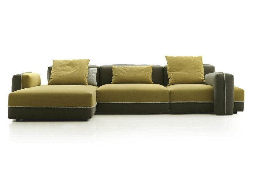 3 seater fabric sofa with chaise longue MOTION by Papadatos