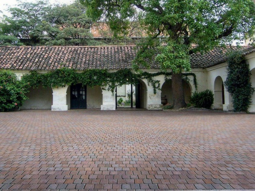 Cement outdoor floor tiles with stone effect MOTIVI by FAVARO1