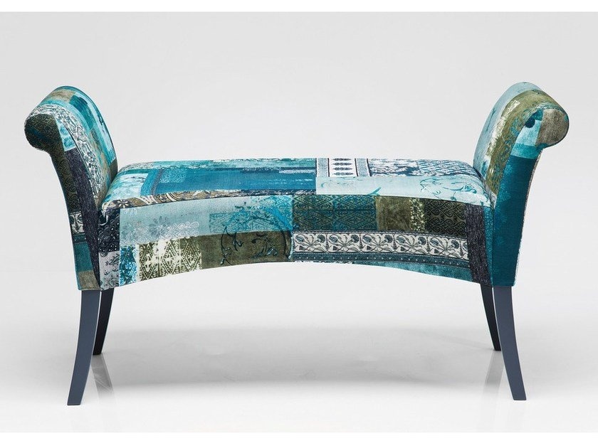 Upholstered fabric bench MOTLEY BLUE HOUR by KARE-DESIGN