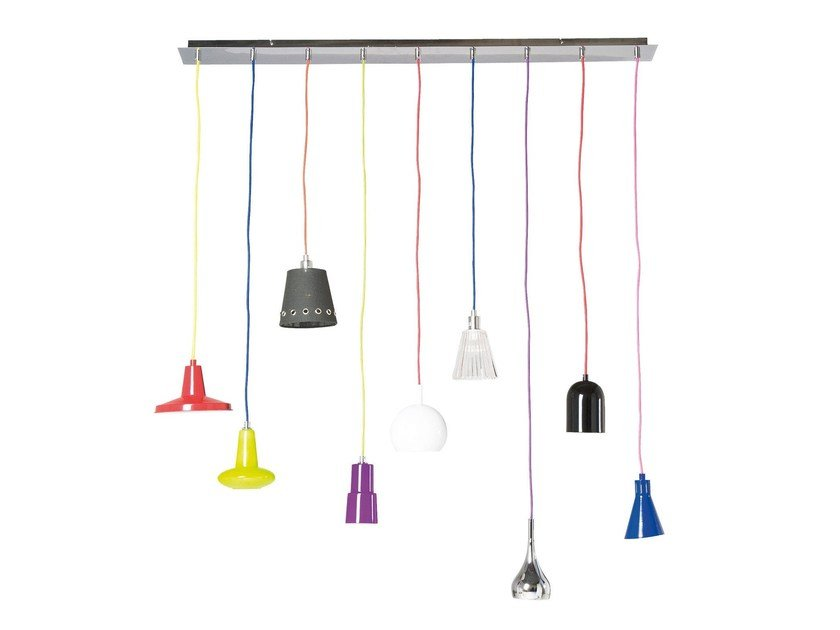 Glass and iron pendant lamp MOTLEY by KARE-DESIGN