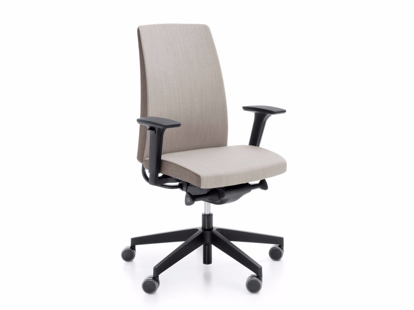 Task chair with 5-Spoke base with armrests MOTTO 10SFL by profim