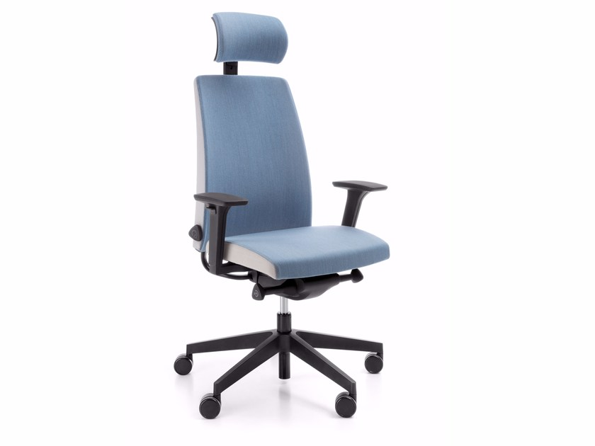 Swivel task chair with 4-Spoke base with armrests MOTTO 11SFL by profim