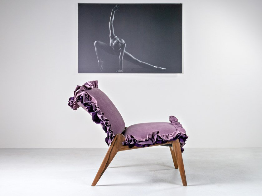 Fabric easy chair MOULIN by HOOKL und STOOL