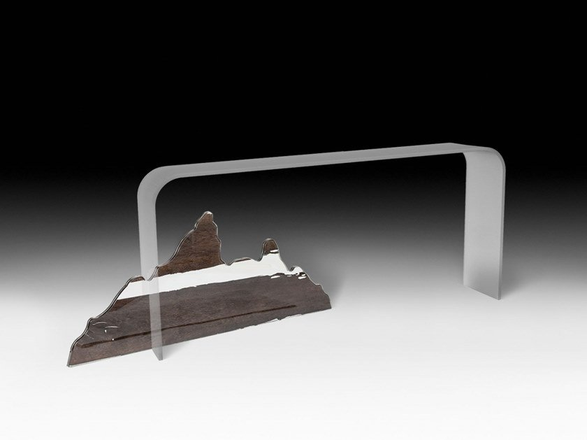 Rectangular glass console table MOUNTAIN ALTAR by VGnewtrend