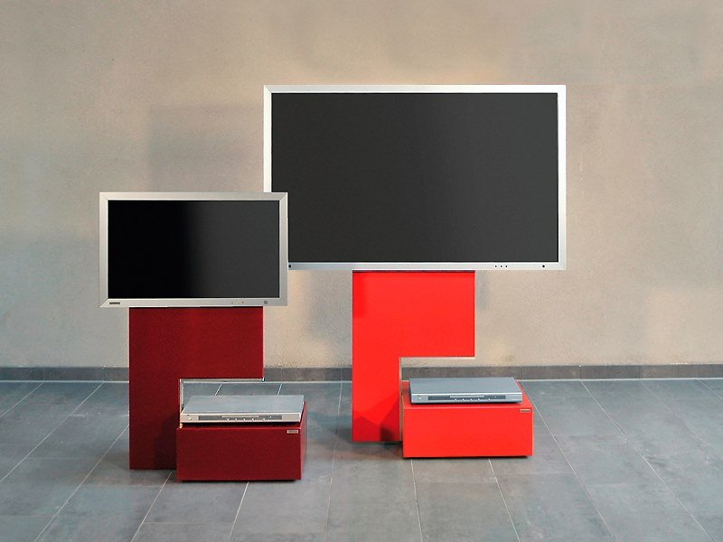 TV cabinet with castors MOVE - ART115 | Stand by Wissmann raumobjekte