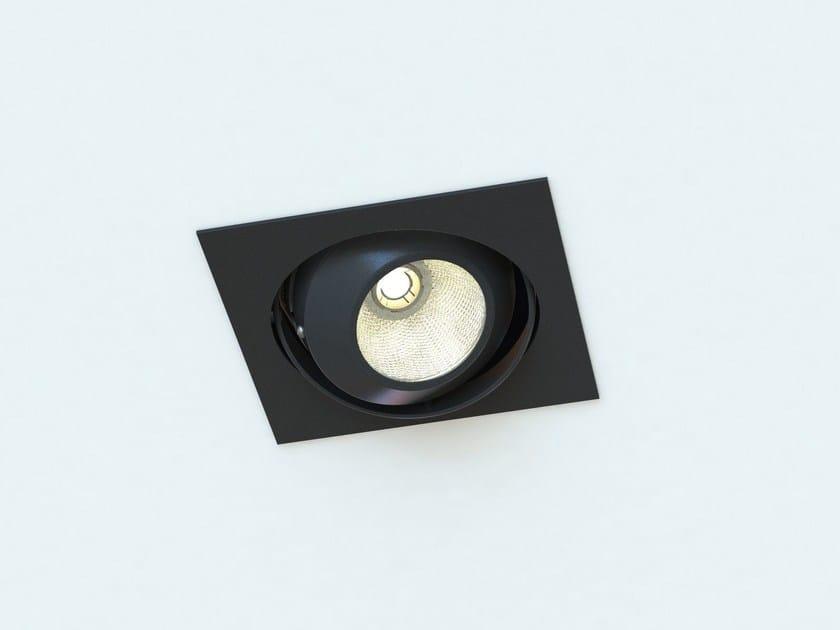LED adjustable recessed steel spotlight MOVE EKO | Square spotlight by LUCIFERO'S