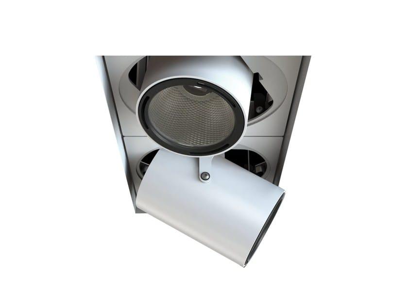 LED adjustable recessed aluminium spotlight MOVE FOCUS | Rectangular spotlight by LUCIFERO'S