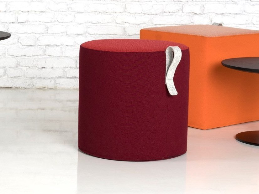 Round fabric pouf MOVE | Round pouf by SilentLab