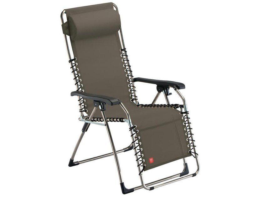 Recliner deck chair with armrests MOVIDA by FIAM