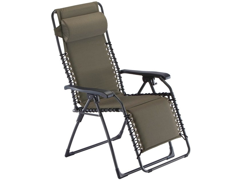 Deck chair with armrests with footrest MOVIDA XL by FIAM
