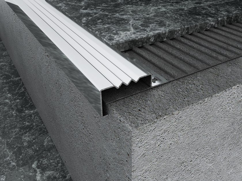 Stainless Stairnose profile MPS-B by Mox Profile Systems
