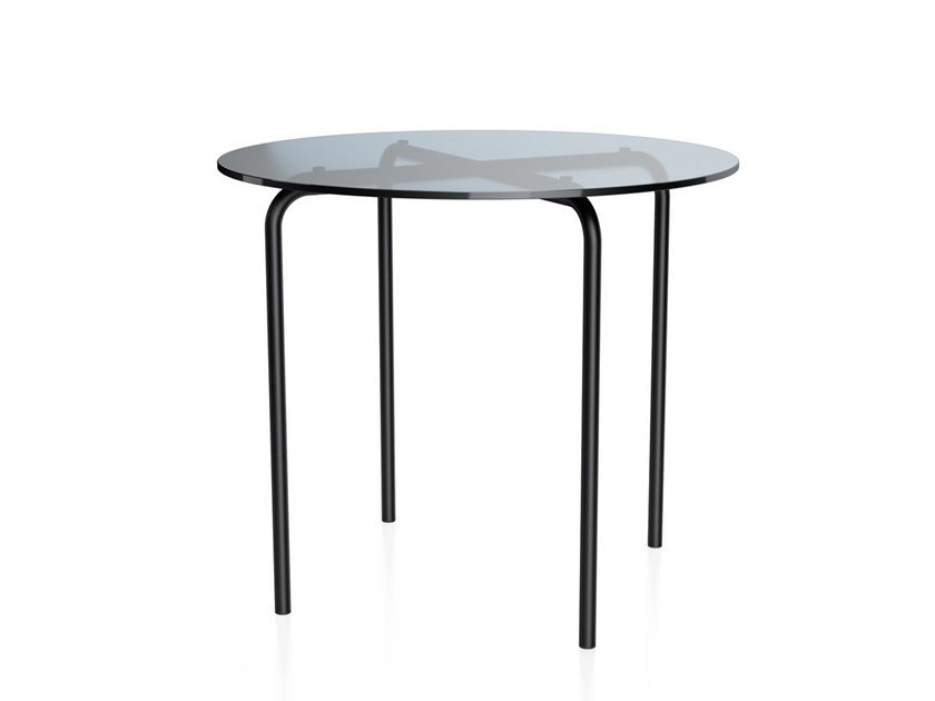 Round glass coffee table for living room MR 515 | Coffee table by THONET