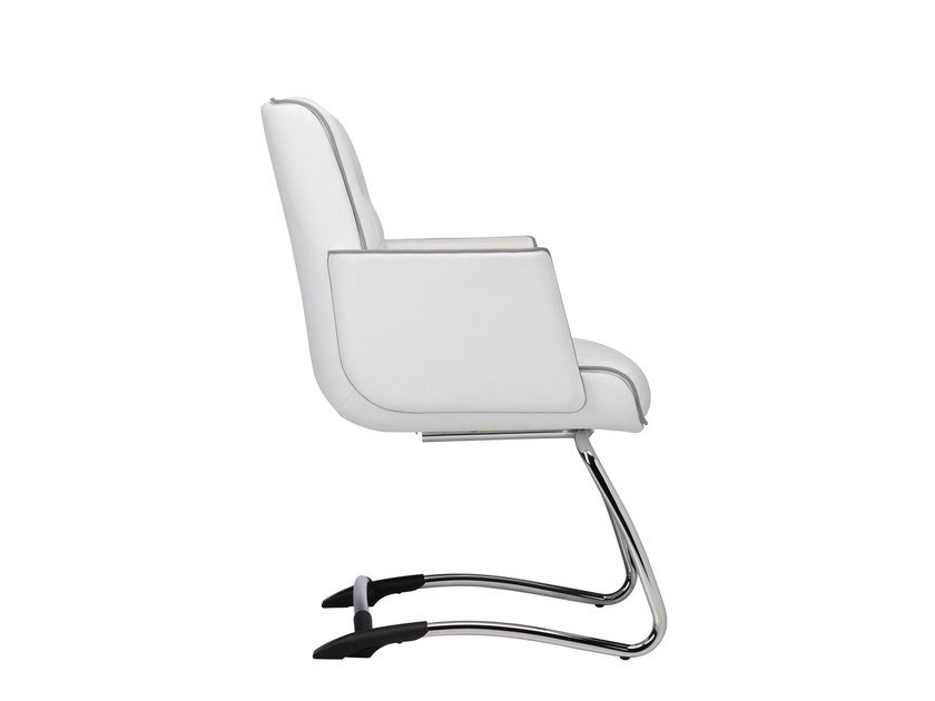 Sled base reception chair with armrests MR. BIG | Sled base chair by Luxy
