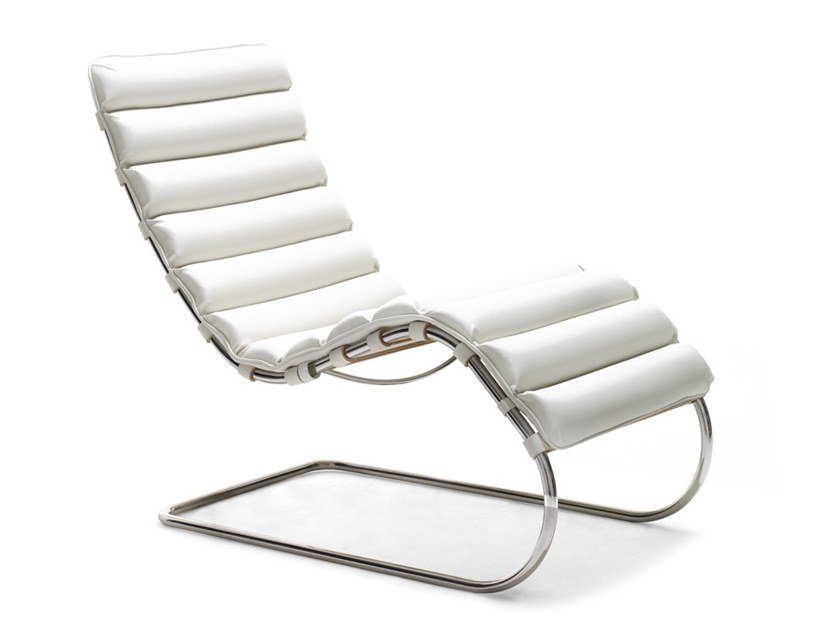 Upholstered leather Chaise longue MR LOUNGE | Chaise longue by KNOLL