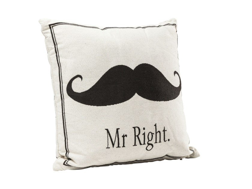 Square fabric cushion MR RIGHT by KARE-DESIGN