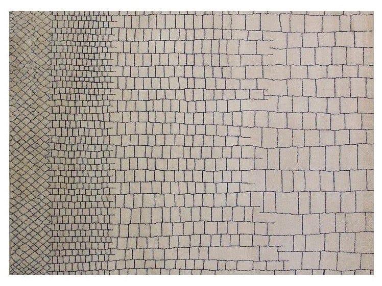 Handmade wool rug BERBER - LOW PILE - MR125R by Mohebban