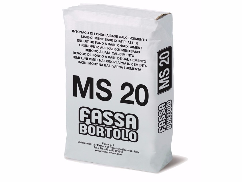 Mortar for masonry MS 20 by FASSA