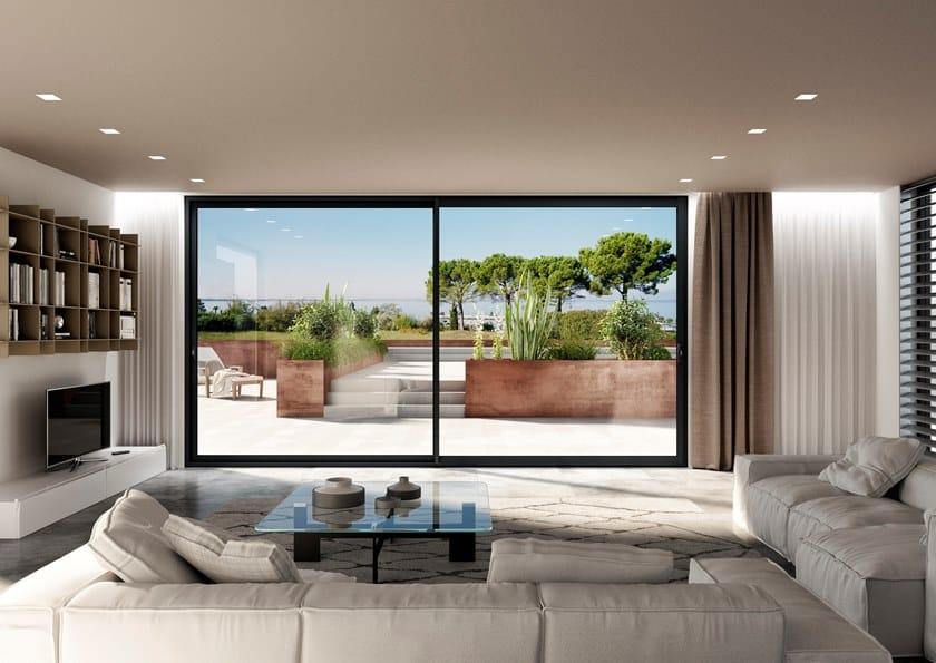 Porta-finestra scorrevole in alluminio MS SLIDE by Oknoplast