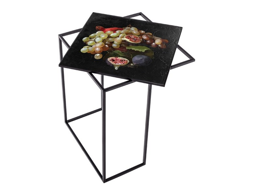 Square metal high side table MTS-40 by MOMENTI