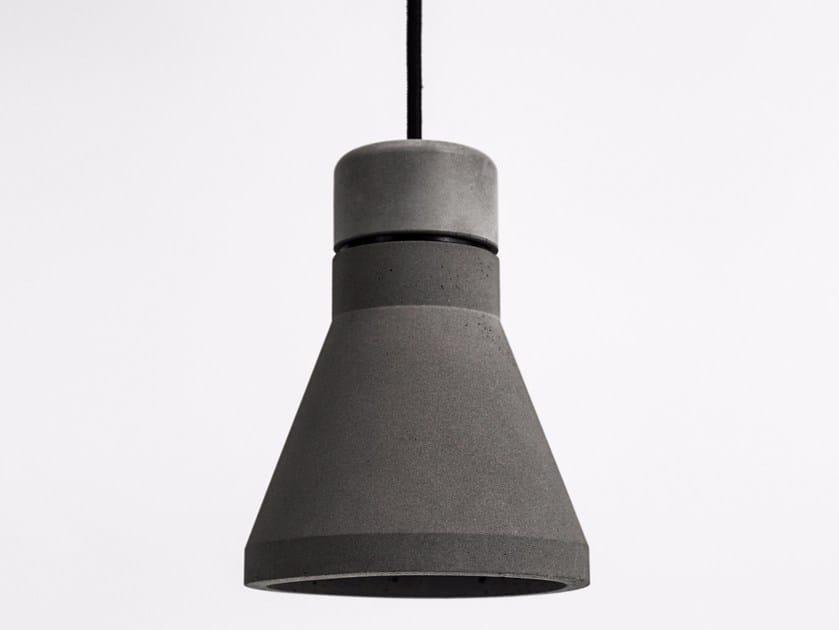 LED concrete pendant lamp MU by Bentu Design