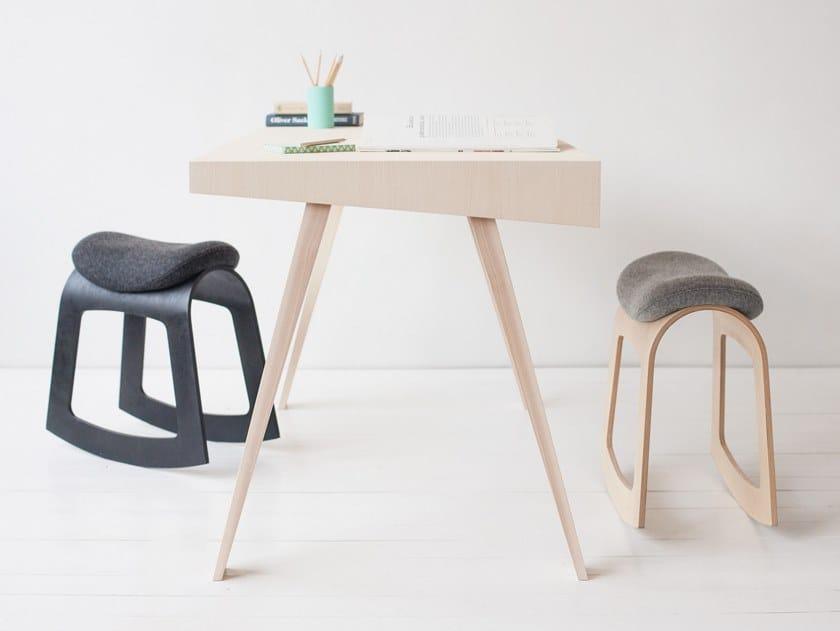 Rocking plywood stool MUISTA by Muista