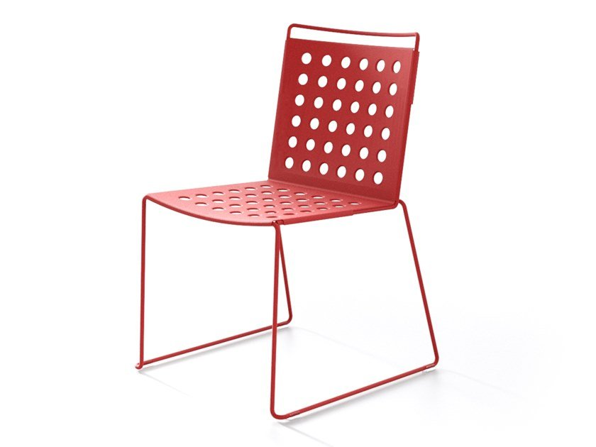 Sled base aluminium chair MULTI BUCO by IBEBI
