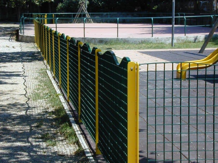 Modular steel Fence MULTI ONDA by SMEC