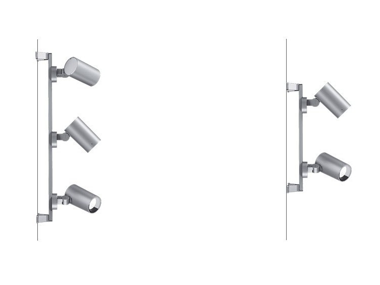 LED adjustable glass and aluminium Outdoor floodlight MULTI PALCO INOUT by iGuzzini