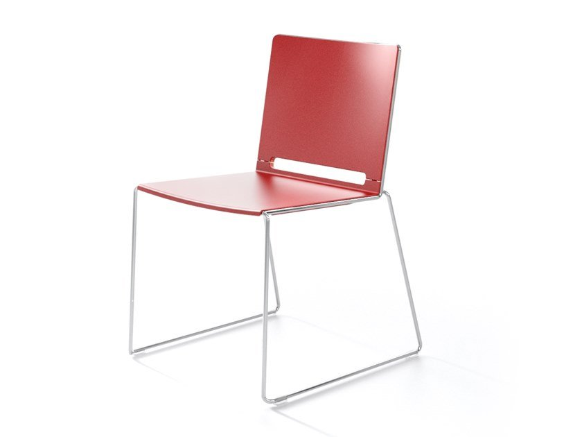 Sled base stackable chair MULTI | Stackable chair by IBEBI