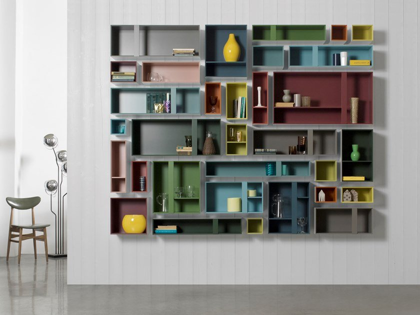 Open floating bookcase MULTIBOX | Bookcase by Capo d'Opera