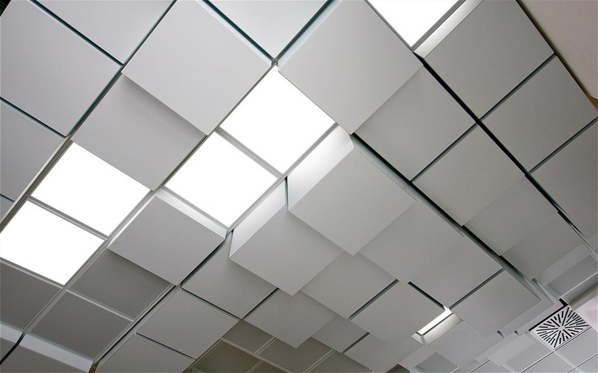 Ceiling tiles MULTILEVEL 3D CUBE by atena
