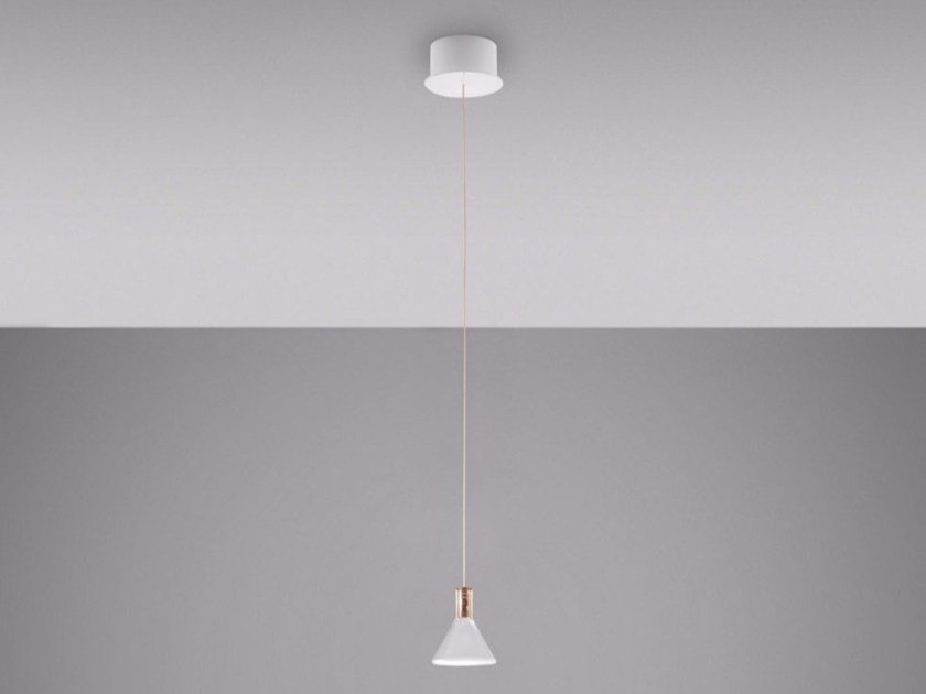 LED Borosilicate glass pendant lamp MULTISPOT POLAIR | Pendant lamp by Fabbian