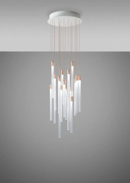 Multispot A In Vetro Luce Fabbian Borosilicato ToobyLampada Diretta Sospensione OXZuPki