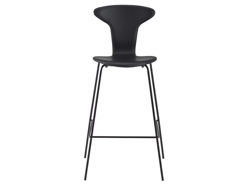 High leather stool with back MUNKEGAARD CHAIR | Leather stool by Howe