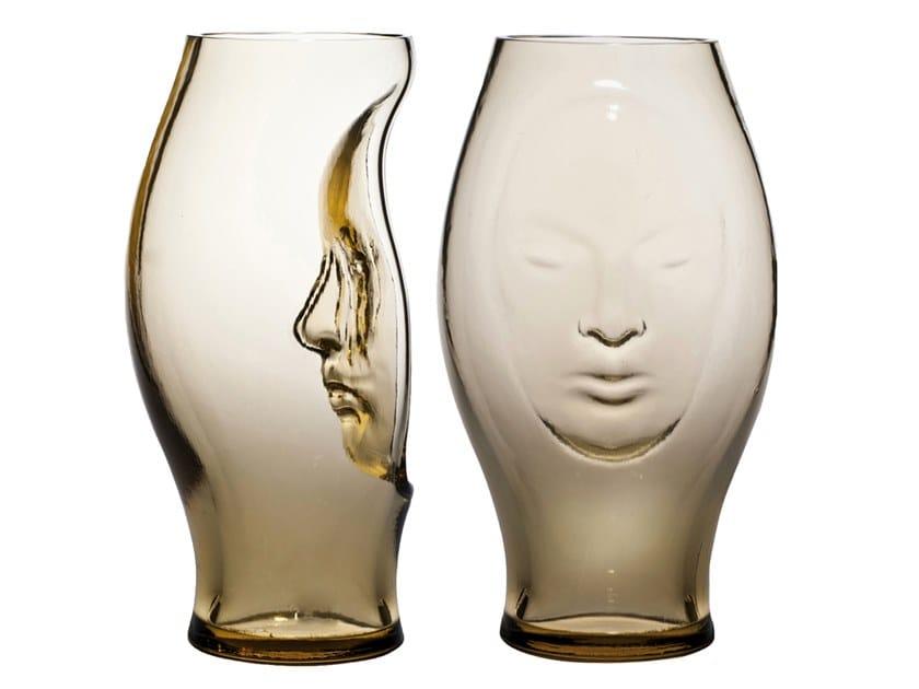 Handmade blown glass vase MURANA by VENINI