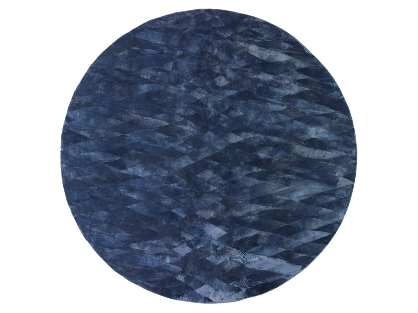 Solid-color round rug MURIEL by Smania