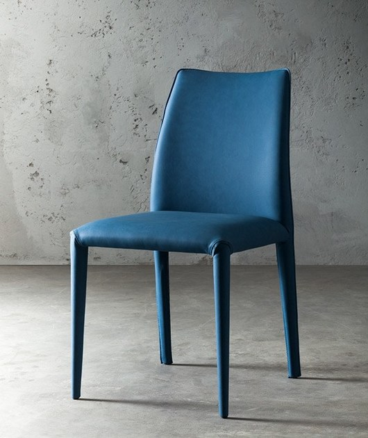 Upholstered imitation leather chair MUSA by JESSE