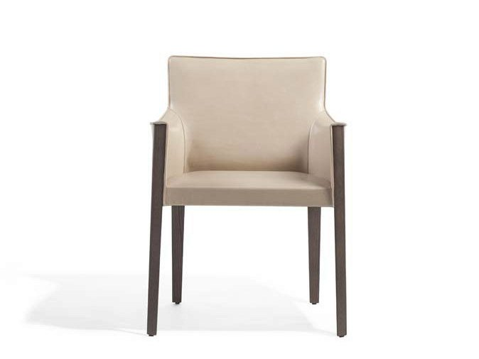 Leather chair with armrests MUSA | Chair with armrests by Potocco