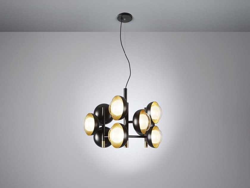 Direct light Borosilicate glass pendant lamp MUSE | Metal pendant lamp by Tooy