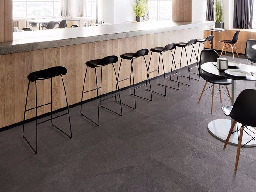 Porcelain Stoneware Wallfloor Tiles With Stone Effect Mustang Slate