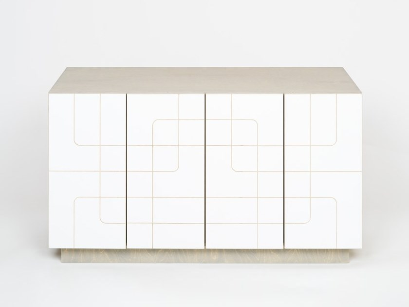 Plywood sideboard with doors MUSTER | Sideboard by Radis