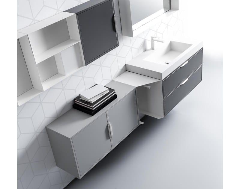Mobile lavabo sospeso con porta asciugamani MUTEVOLE 09 by Karol