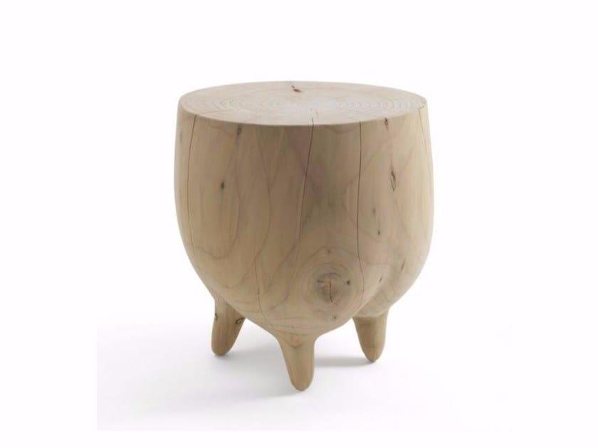 Cedarwood stool MUUU by Riva 1920