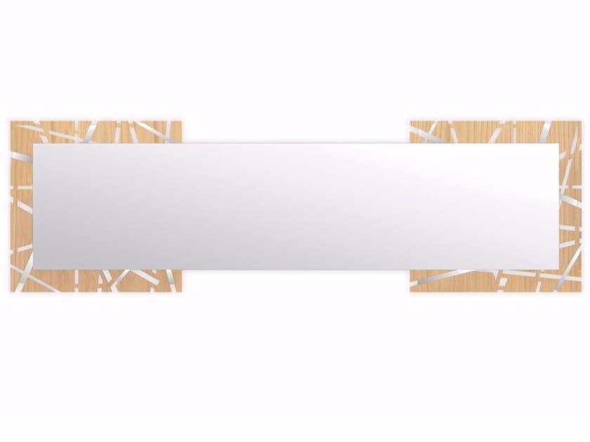 Rectangular wall-mounted framed mirror MW-095SPXL | Mirror by LAS